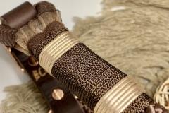 Bijou, , collier pour chien en paracorde dans les tons brun foncé