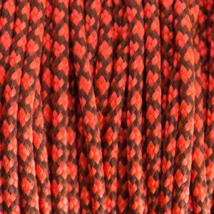 06 chocolate-brown-neon-orange-diamonds-paracorde-type-ii-ecl